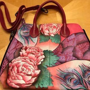Anuschka Artwork: Rosy Reverie handbag